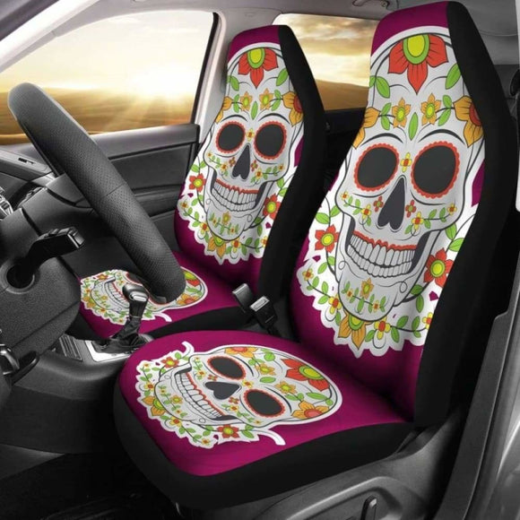 Sugar Skull Car Seat Cover - Day Of The Dead 101207 - YourCarButBetter