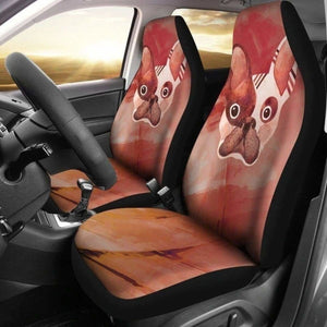 Surprise French Bulldog Car Seat Covers 194110 - YourCarButBetter