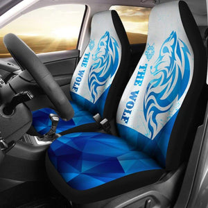 The Wolf Car Seat Covers Mandala Style 212502 - YourCarButBetter
