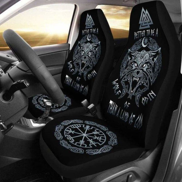 Viking Fenrir Vegvisir Car Seat Covers 144909 - YourCarButBetter