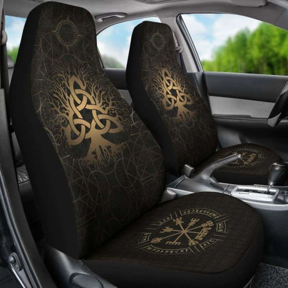 Viking Tree Of Life Vegvisir Car Seat Covers 144909 - YourCarButBetter