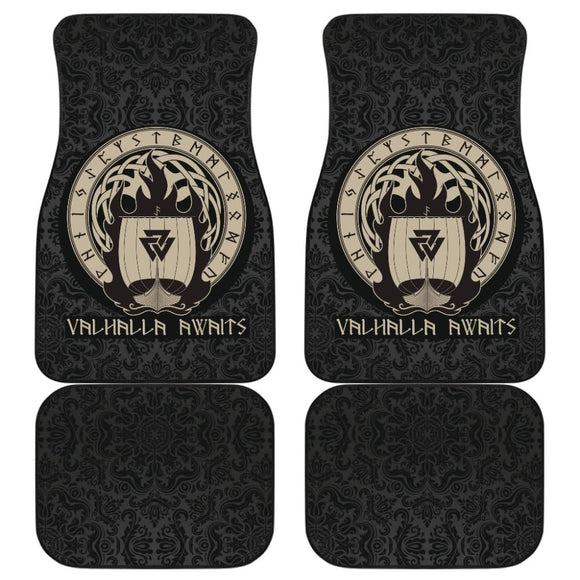 Viking Valhalla Awaits Car Floor Mats 213001 - YourCarButBetter