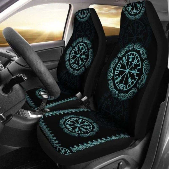 Viking Vegvisir The Norse God Car Seat Covers 144909 - YourCarButBetter