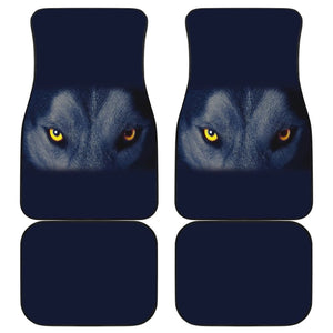 Wolf Eyes Printed Car Floor Mats 211702 - YourCarButBetter