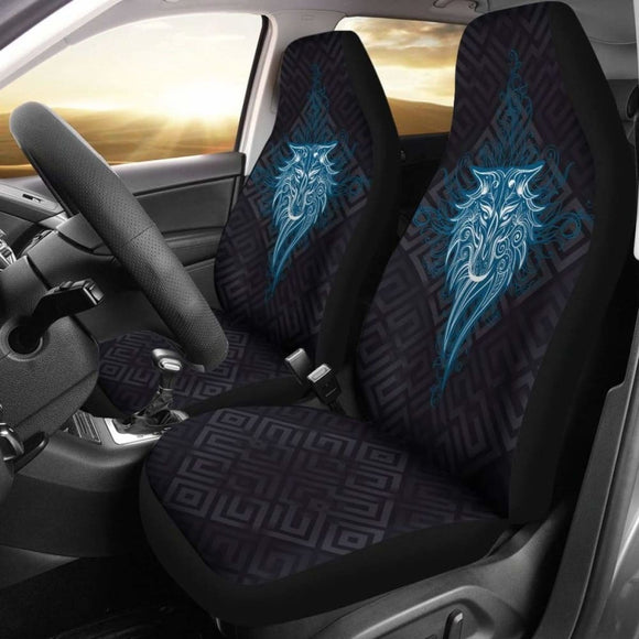 Wolf Mandala Car Seat Covers 200904 - YourCarButBetter