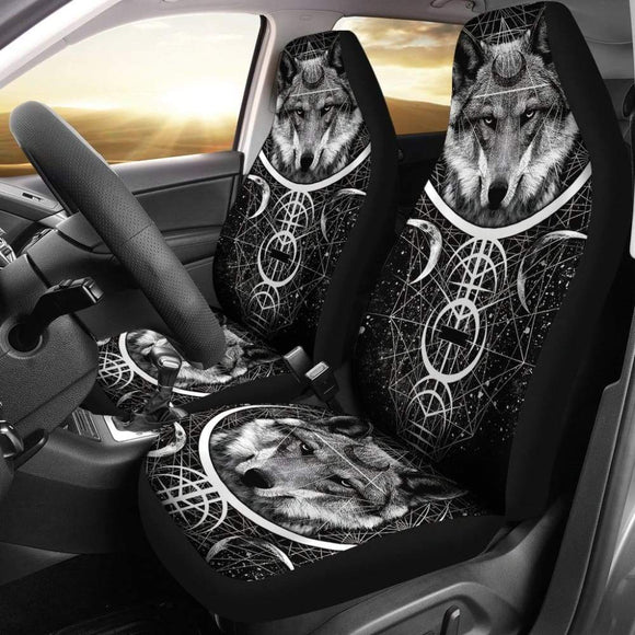 Wolf Mandala Car Seat Covers 212302 - YourCarButBetter