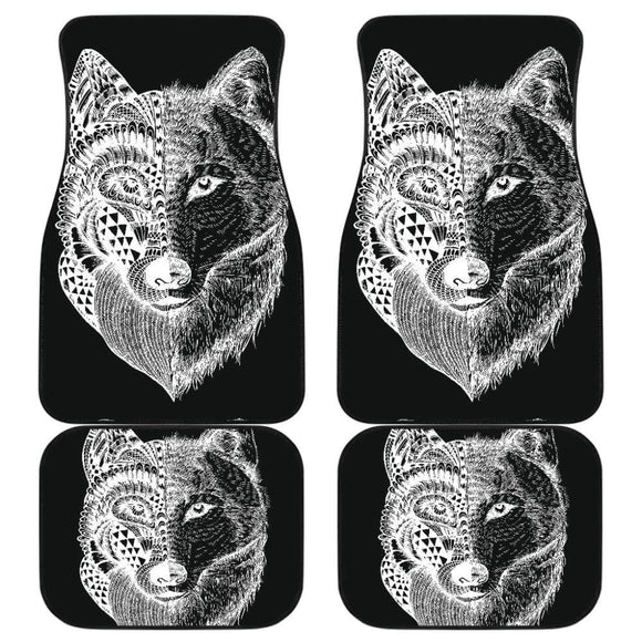 Wolf Mandala Full Car Floor Mats 212302 - YourCarButBetter