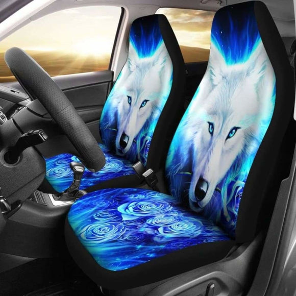 Wolf Rose Car Seat Covers 202004 - YourCarButBetter