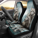 Wolves Hungry Cute Car Seat Covers 200904 - YourCarButBetter