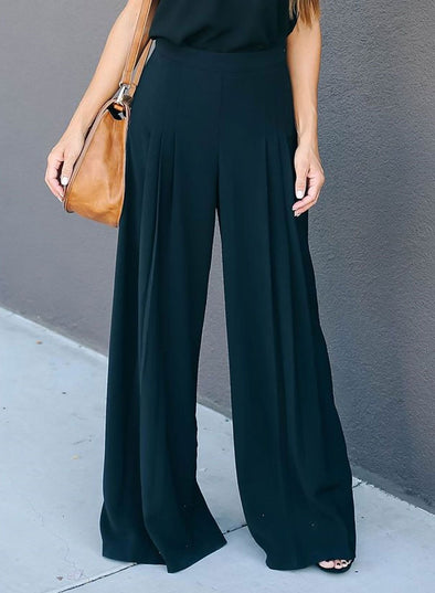 Casual Chic Lady's Bell-Bottomed Pants