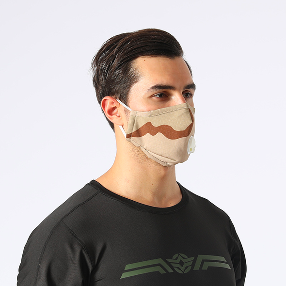 Camo Breathable Valve Face Mask
