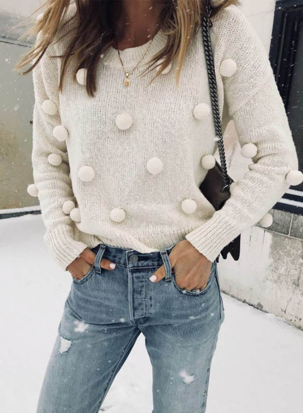 Casual Ball Pullover Sweater