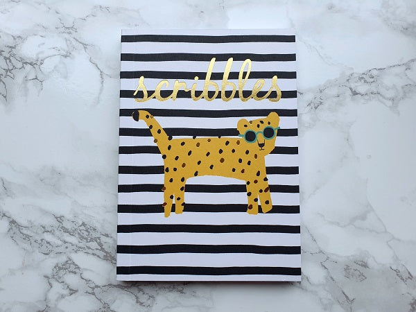 Scribbles Leopard Stripe Mini Notebook