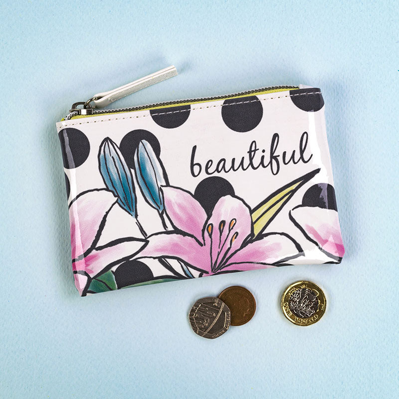 Beautiful Floral Change Purse