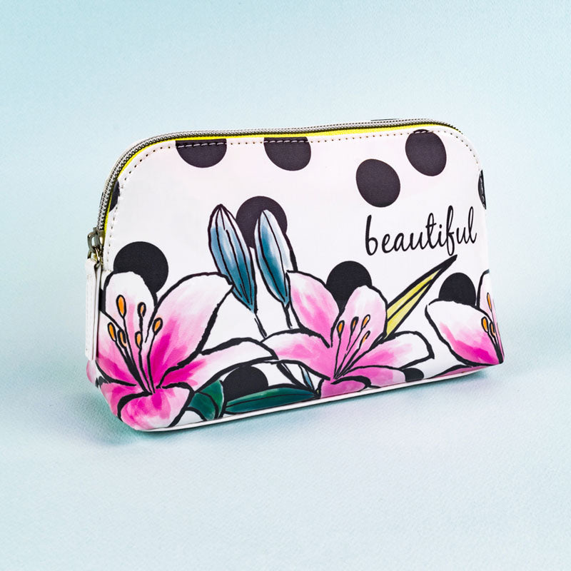 Beautiful Floral Cosmetic Make-Up Bag