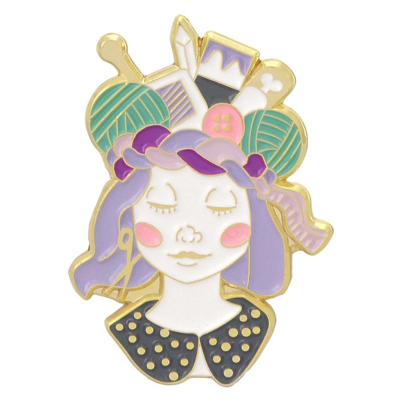Crafty Girl enamel pin badge