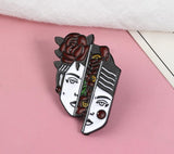 Divided Woman enamel pin badge