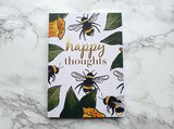 Happy Thoughts Bee Mini Notebook
