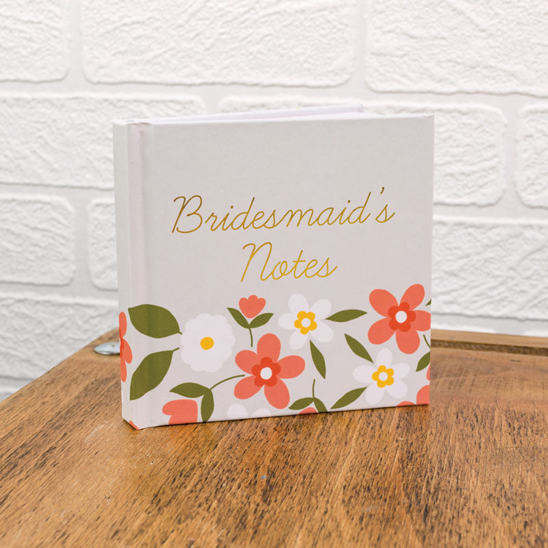 Floral Bridesmaid's Notes Mini Notebook