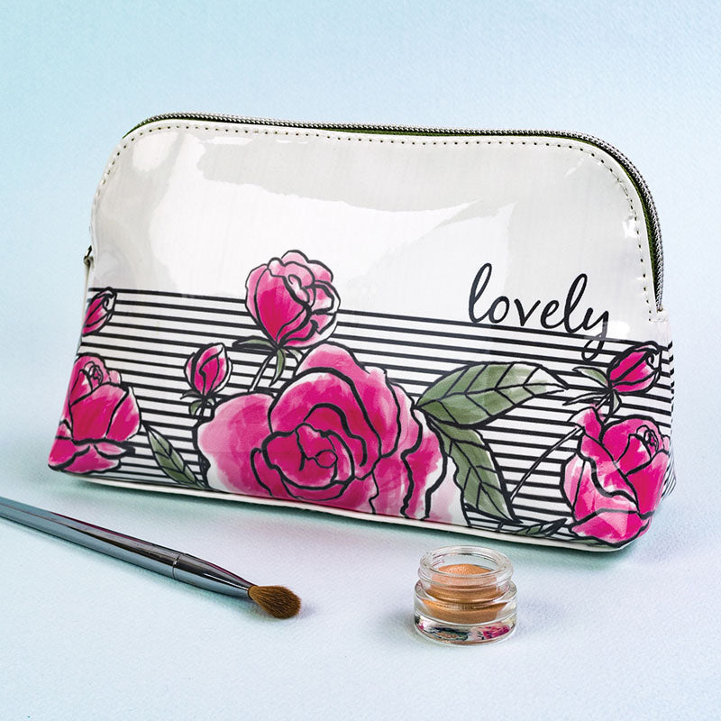 Lovely Floral Cosmetic Make-Up Bag