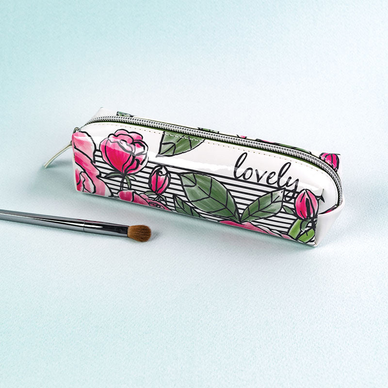 Lovely Floral Cosmetic Mini Make-Up Bag