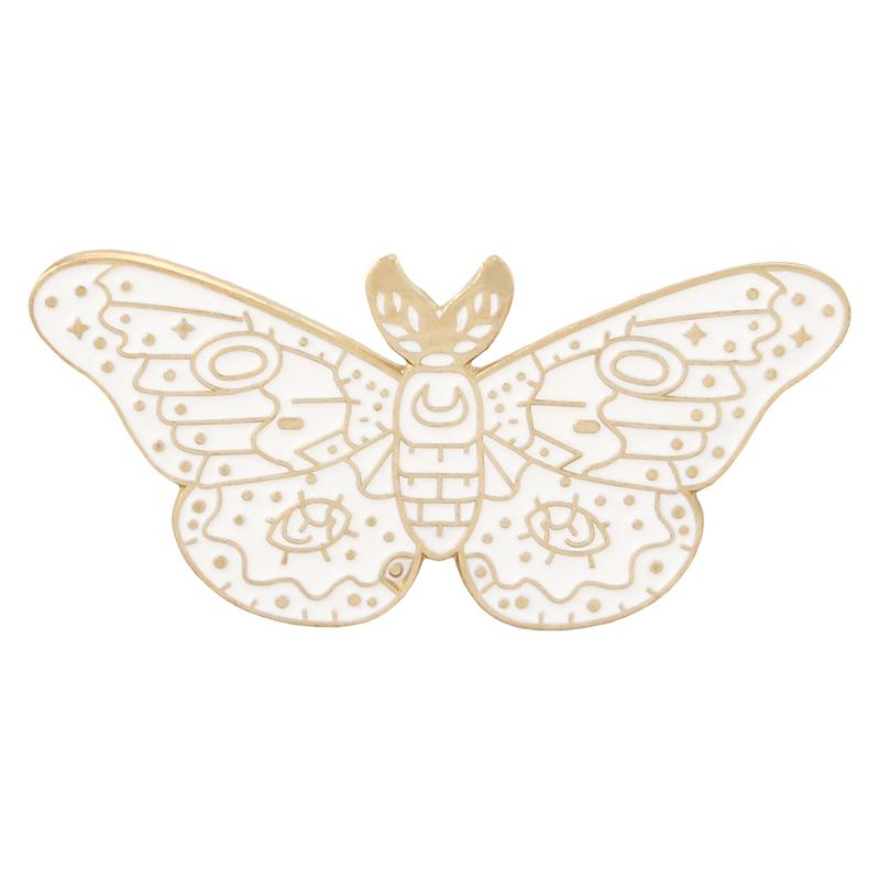 Midnight Moth enamel pin badge