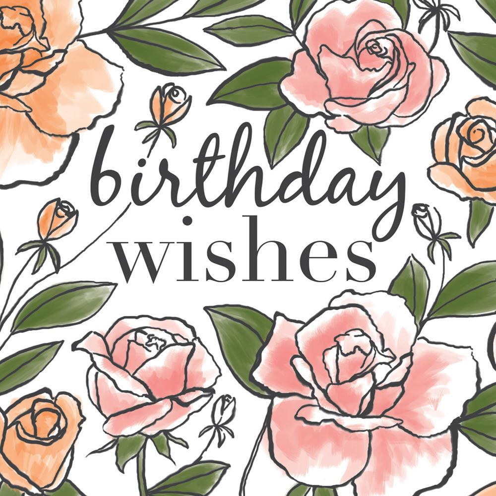 Rose Birthday Wishes Card