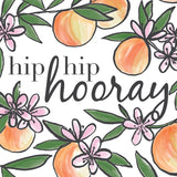Floral Hip Hip Hooray Celebration Card