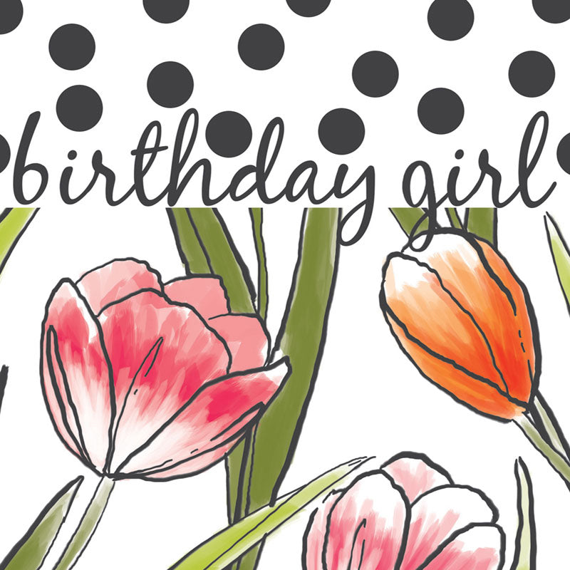 Floral Birthday Girl Card