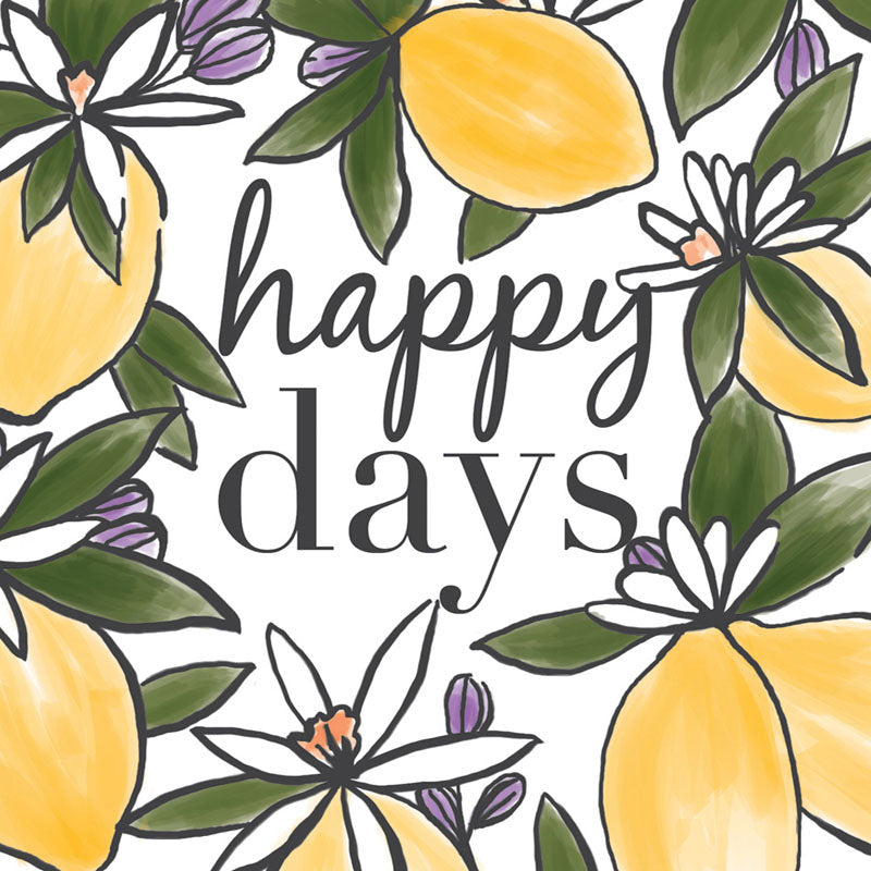 Lemon and Floral Happy Days Celebration Card