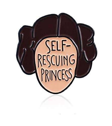 Self-Rescuing Princess enamel pin badge