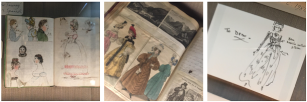 Regency Fashion Drawing Illustration Dresses Costume Sketchbook