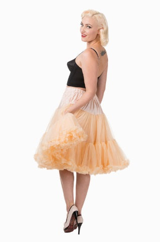 "Starlite 23"" Petticoat Champagne Frilly Vintage Retro 50s Rockabilly"