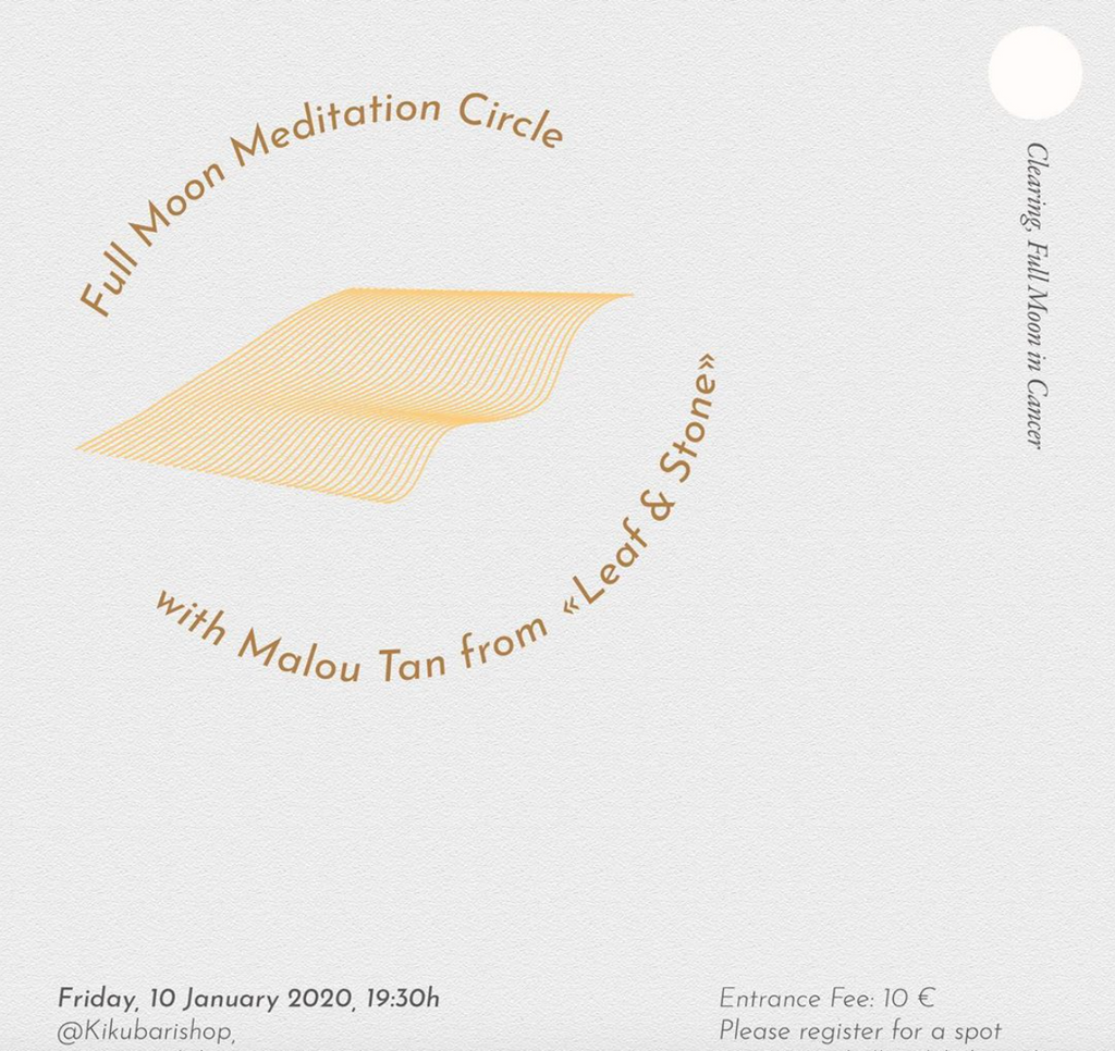 "Full Moon Meditation Circle with Malou Tan from ""Leaf & Stone"" 