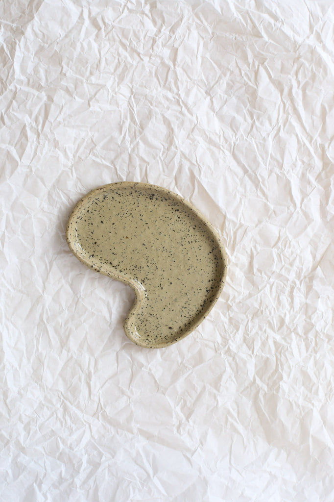 Free Form Puddle Plate by Clay Club, Small, Cork Clay with Sheer Glaze