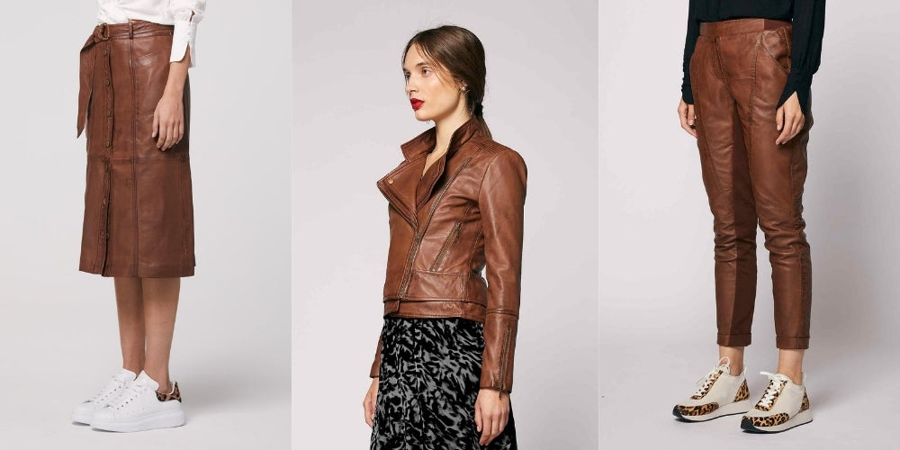 Classic Leather designs by Australian Fashion Designer OnceWas