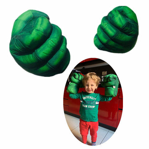 Child Hulk Plush Gloves