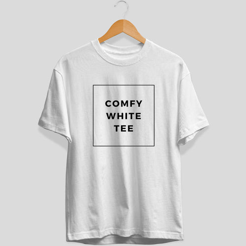 Comfy White Tee - Unisex Fit