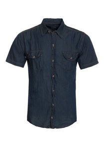 S/S Men's Fine Lightweight Denim Shirt