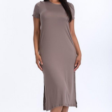 Load image into Gallery viewer, Taupe maxi dress