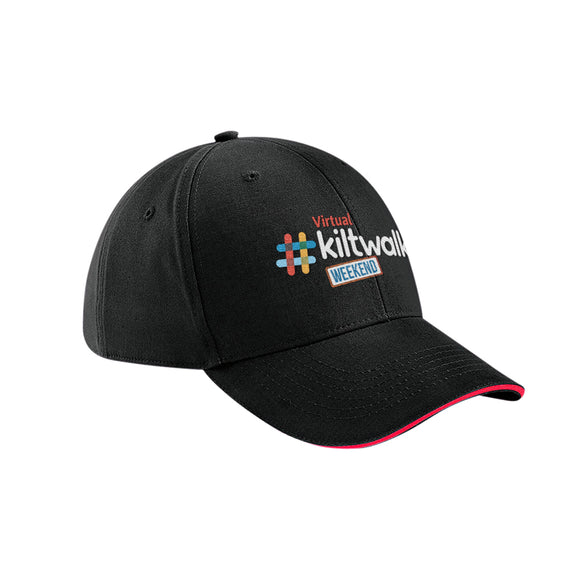 virtual kiltwalk embroidered baseball cap