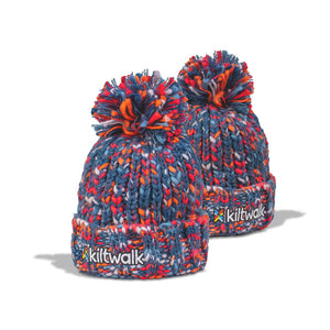 kiltwalk embroidered chunky knit beanie