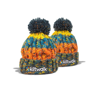 kiltwalk embroidered chunky knit kids beanie