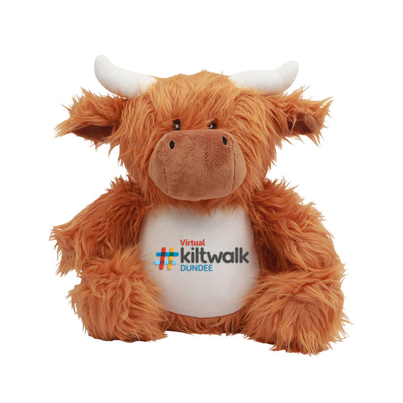 Embroidered Highland Coo - Virtual Dundee
