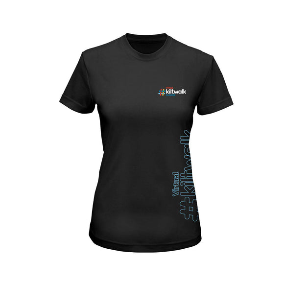 virtual kiltwalk womenns event performance t-shirt