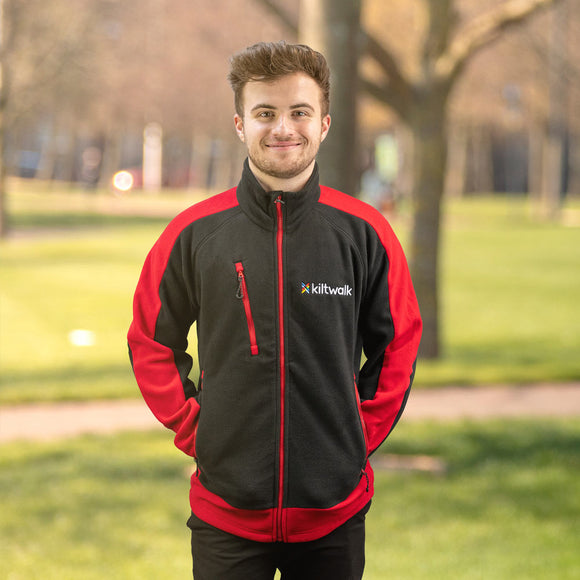kiltwalk embroidered fleece jacket