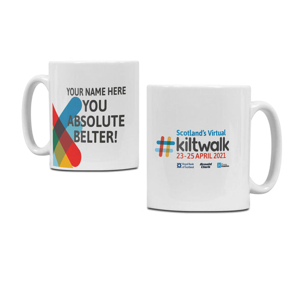 Scotland's Virtual Kiltwalk Personalised Mug