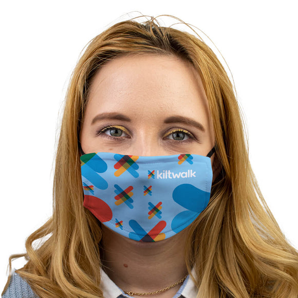 Virtual Kiltwalk logo face mask