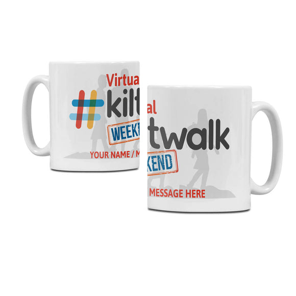 virtual kiltwalk ceramic coffee mug