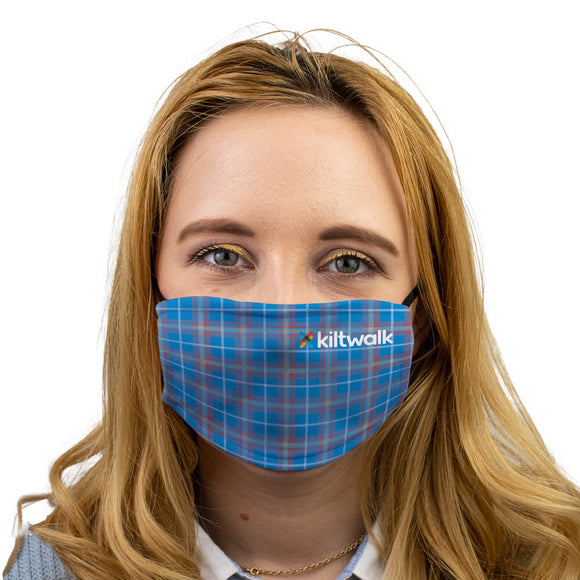Virtual kiltwalk tartan face mask